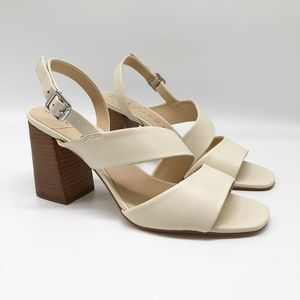 Sole Society Jiya Cream Heeled Sandal